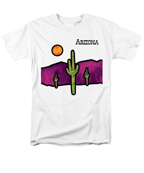 Desert Stained Glass Men's T-Shirt  (Regular Fit) by Methune Hively