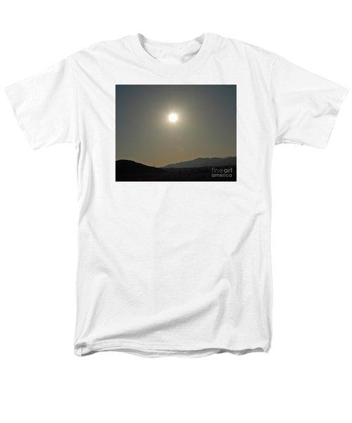 Men's T-Shirt  (Regular Fit) featuring the digital art Desert Sun by Walter Chamberlain