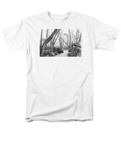 Destruction In Black And White Men's T-Shirt  (Regular Fit) by Joni Eskridge