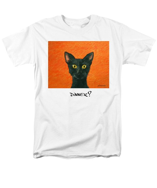Men's T-Shirt  (Regular Fit) featuring the painting Dinner? 2 by Marna Edwards Flavell