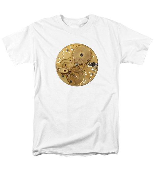 Men's T-Shirt  (Regular Fit) featuring the photograph Dismantled Clockwork Mechanism by Michal Boubin