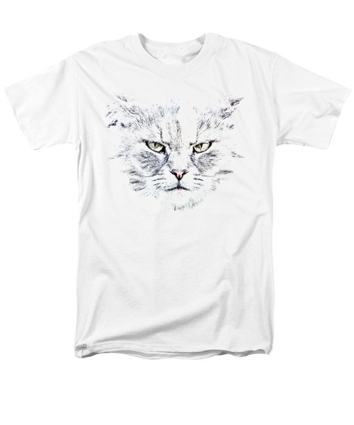 Men's T-Shirt  (Regular Fit) featuring the photograph Disturbed Cat by Everet Regal
