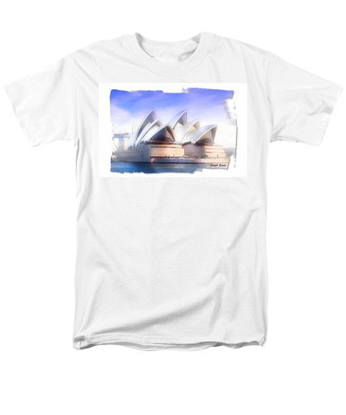 Men's T-Shirt  (Regular Fit) featuring the photograph Do-00109 Opera House by Digital Oil
