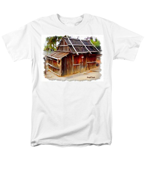 Men's T-Shirt  (Regular Fit) featuring the photograph Do-00129 Old Cottage by Digital Oil