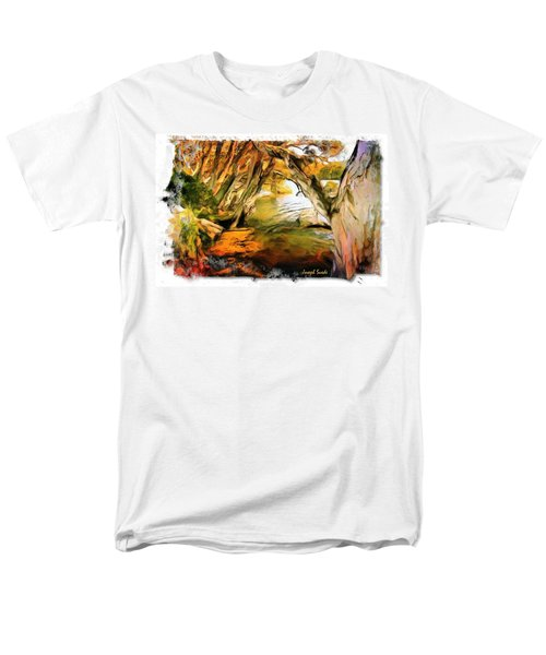 Men's T-Shirt  (Regular Fit) featuring the photograph Do-00268 Trees On Water In Avoca Estuary by Digital Oil