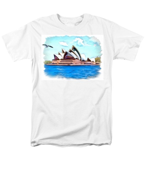 Men's T-Shirt  (Regular Fit) featuring the photograph Do-00293 Sydney Opera House by Digital Oil