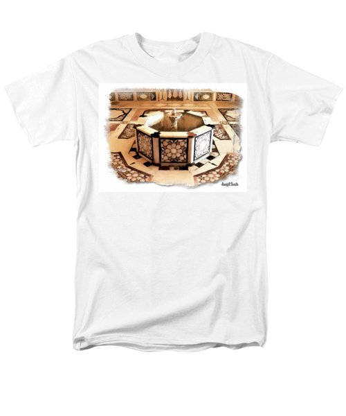 Men's T-Shirt  (Regular Fit) featuring the photograph Do-00323 Old Bath Fountain by Digital Oil