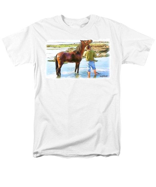 Do-00421 Washing Horse In Mina Men's T-Shirt  (Regular Fit) by Digital Oil