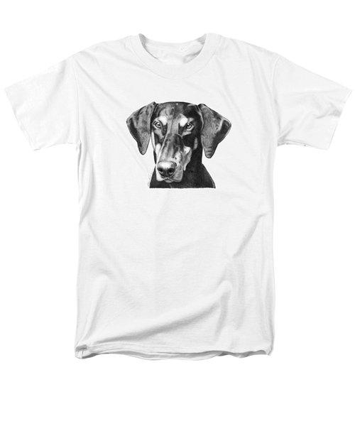 Doberman Men's T-Shirt  (Regular Fit) by Abbey Noelle
