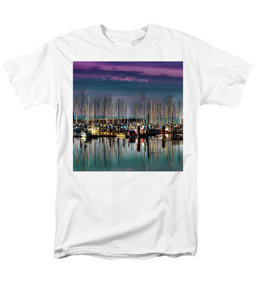 Docked Sailboats Men's T-Shirt  (Regular Fit) by David Patterson