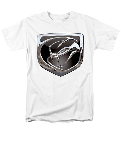 Dodge Viper 3 D  Badge Special Edition On White Men's T-Shirt  (Regular Fit) by Serge Averbukh