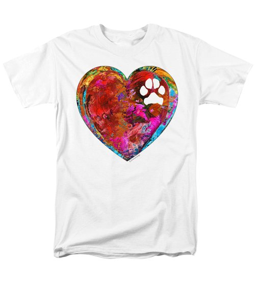 Dog Art - Puppy Love 2 - Sharon Cummings Men's T-Shirt  (Regular Fit) by Sharon Cummings