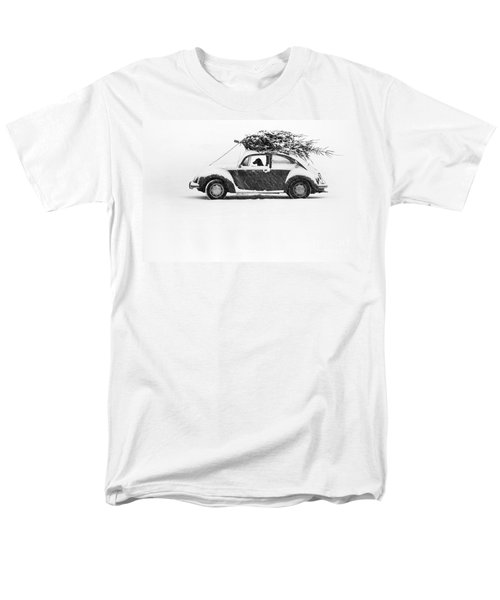 Dog In Car  Men's T-Shirt  (Regular Fit) by Ulrike Welsch and Photo Researchers