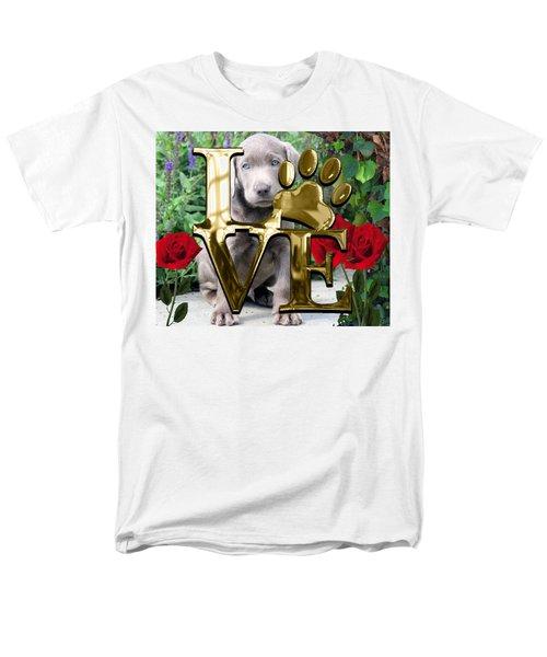 Dog Lover Collection Weimaraner Dog Puppy Men's T-Shirt  (Regular Fit) by Marvin Blaine