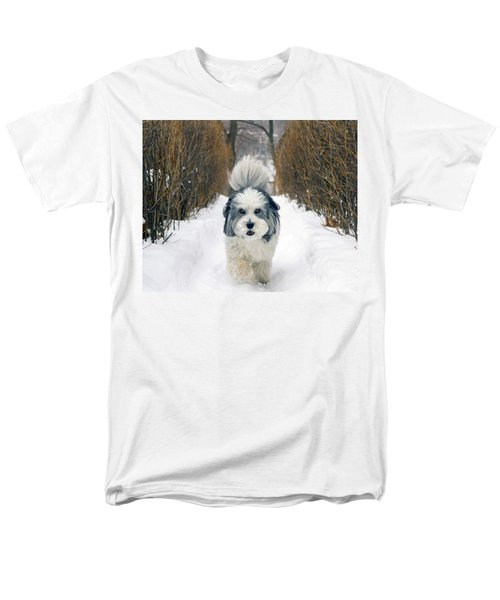 Men's T-Shirt  (Regular Fit) featuring the photograph Doing The Dog Walk by Keith Armstrong