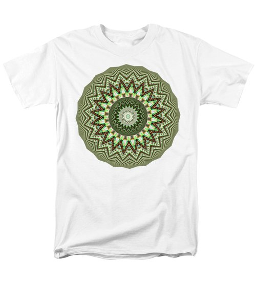 Dome Of Chains Mandala By Kaye Menner Men's T-Shirt  (Regular Fit) by Kaye Menner