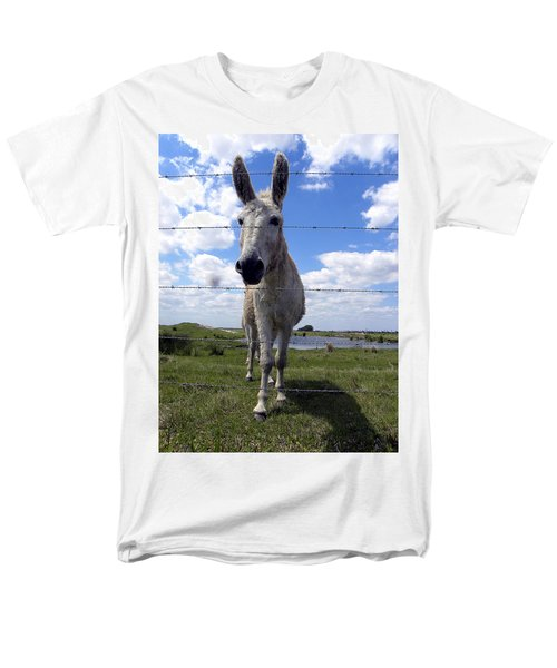 Men's T-Shirt  (Regular Fit) featuring the photograph Don't Fence Me In 000  by Chris Mercer