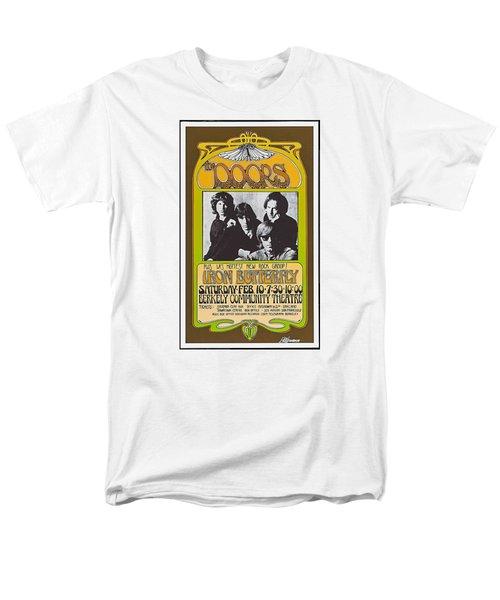 Men's T-Shirt  (Regular Fit) featuring the photograph Doors/iron Butterfly Concert Poster by Allen Beilschmidt
