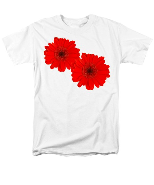 Men's T-Shirt  (Regular Fit) featuring the photograph Double Gerbera by Scott Carruthers