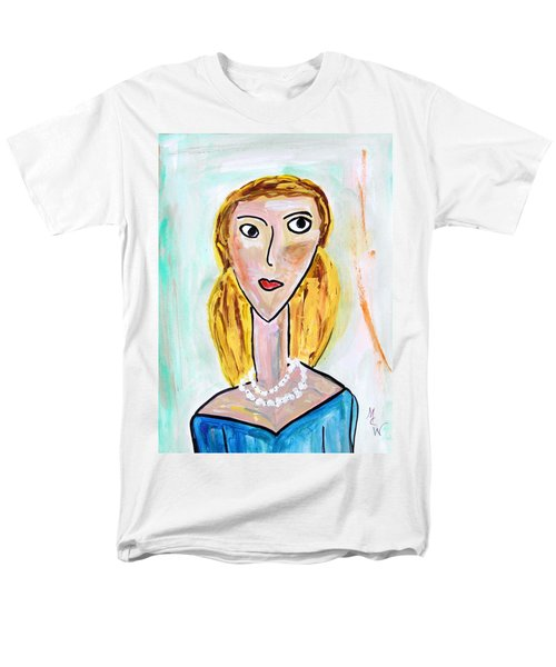 Men's T-Shirt  (Regular Fit) featuring the painting Double Strand by Mary Carol Williams