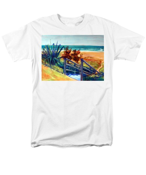 Down The Stairs To The Beach Men's T-Shirt  (Regular Fit) by Winsome Gunning