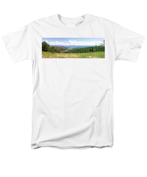 Down The Valley At Snowmass #2 Men's T-Shirt  (Regular Fit) by Jerry Battle