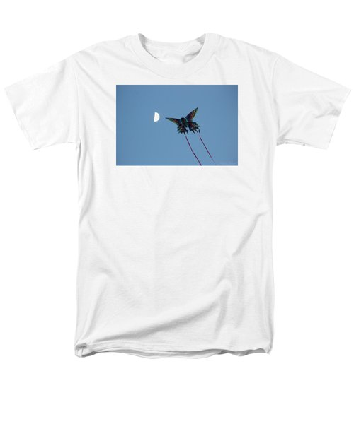 Dragonfly Chasing The Moon Men's T-Shirt  (Regular Fit) by Robert Banach