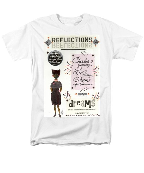 Men's T-Shirt  (Regular Fit) featuring the mixed media Dream For Tomorrow by Angela L Walker