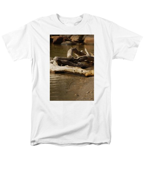 Men's T-Shirt  (Regular Fit) featuring the photograph Driftwood by Ramona Whiteaker