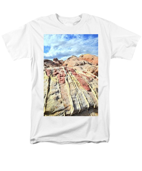 Dripping Color In Valley Of Fire Men's T-Shirt  (Regular Fit) by Ray Mathis