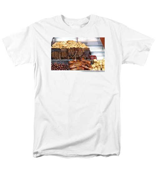 Duck Heads In Soy Sauce And Rice And Blood Cakes Men's T-Shirt  (Regular Fit) by Yali Shi