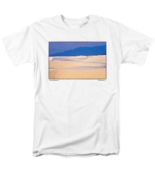 Dunes With Mountains Men's T-Shirt  (Regular Fit) by R Thomas Berner