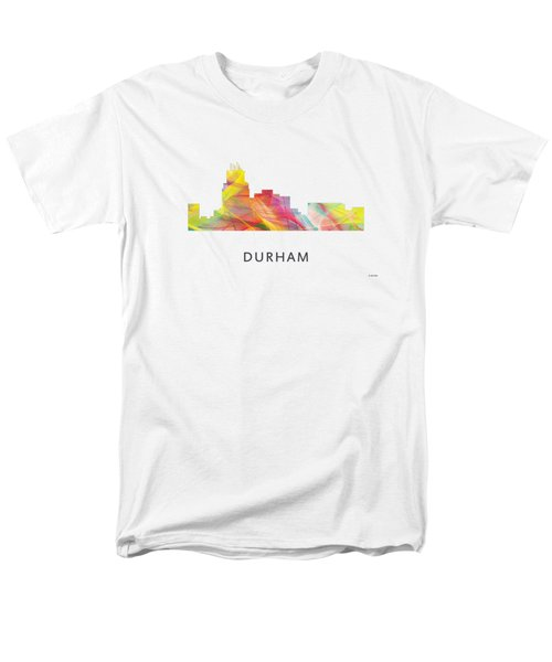 Durham North Carolina Skyline Men's T-Shirt  (Regular Fit) by Marlene Watson