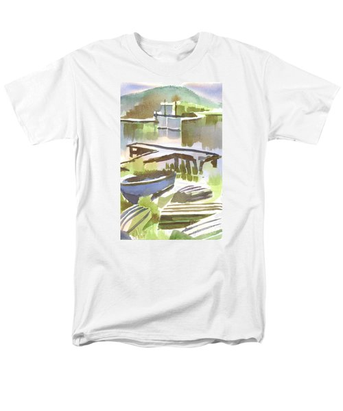 Dusk At The Boat Dock Men's T-Shirt  (Regular Fit) by Kip DeVore