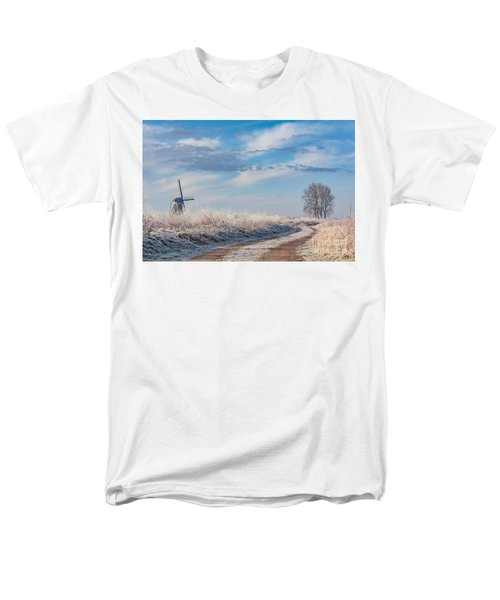 Dutch Windmill In Winter Men's T-Shirt  (Regular Fit)