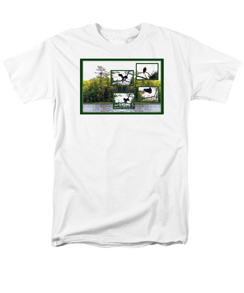 Men's T-Shirt  (Regular Fit) featuring the photograph Eagle Collage by Teresa Schomig