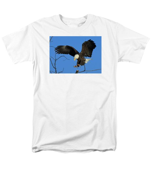Men's T-Shirt  (Regular Fit) featuring the photograph Eagle Landing by Coby Cooper