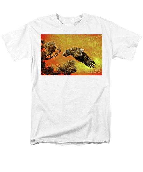 Men's T-Shirt  (Regular Fit) featuring the painting Eagle Series Strength by Deborah Benoit