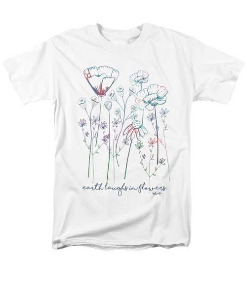 Men's T-Shirt  (Regular Fit) featuring the digital art Earth Laughs In Flowers by Heather Applegate