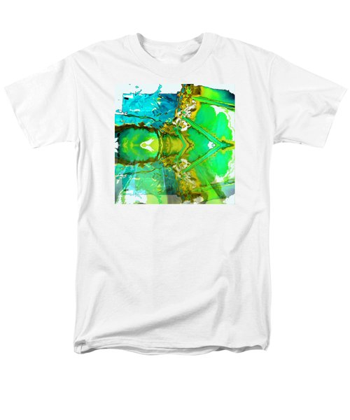 Earth Water Sky Abstract Men's T-Shirt  (Regular Fit) by Carolyn Repka