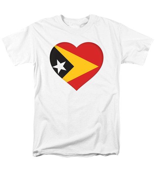 East Timor Heart Men's T-Shirt  (Regular Fit) by Roy Pedersen