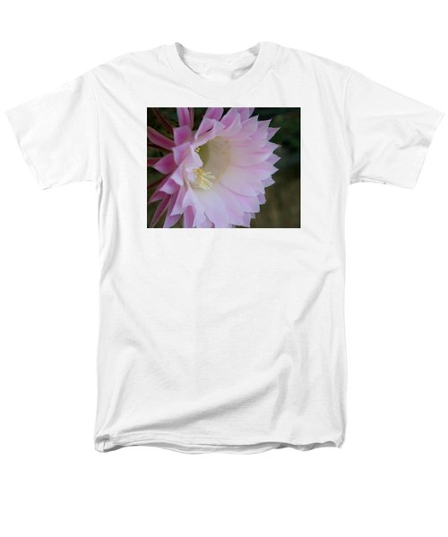 Men's T-Shirt  (Regular Fit) featuring the painting Easter Lily Cactus East 2 by Marna Edwards Flavell