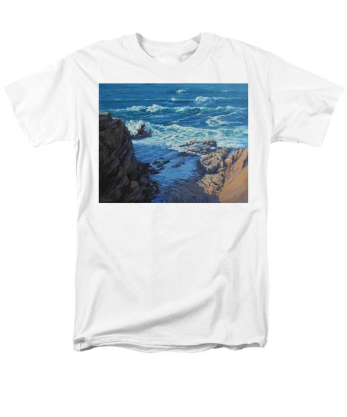 Men's T-Shirt  (Regular Fit) featuring the painting Ebb And Flow by Karen Ilari