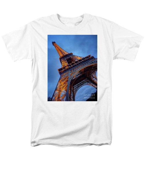 Eiffel Dressed In Gold Men's T-Shirt  (Regular Fit) by Kim Andelkovic
