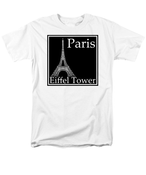 Eiffel Tower In Black Men's T-Shirt  (Regular Fit) by Custom Home Fashions