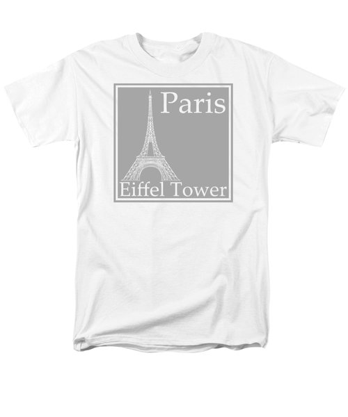 Eiffel Tower In Gray Men's T-Shirt  (Regular Fit) by Custom Home Fashions