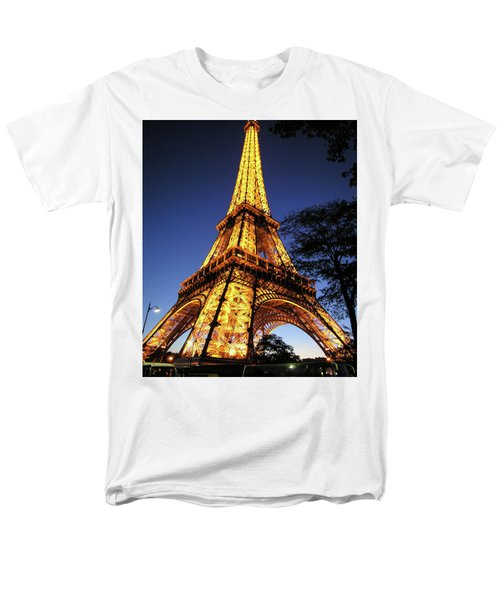 Eiffel Tower Men's T-Shirt  (Regular Fit) by Jim Mathis