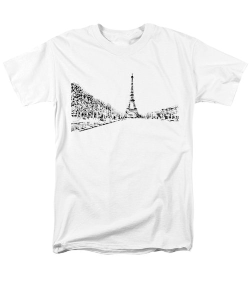 Eiffel Tower Men's T-Shirt  (Regular Fit) by ISAW Gallery