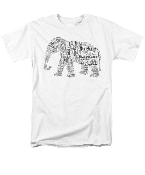 Elefont Noir Men's T-Shirt  (Regular Fit)