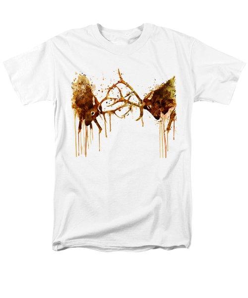 Elks Fight Men's T-Shirt  (Regular Fit) by Marian Voicu
